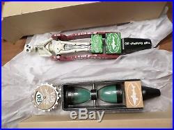 Lot New Mint Dogfish Head Uber Namaste Beer Keg Tap Handle Skeleton Hourglass