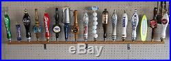Lot Of 10 Ea 17 Beer Tap Handle Displays (holds 170 Taps) Wall Mounted Oak 58