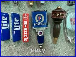 Lot Of 22 Beer Tappers Tap Handles Bud, Dos Equis, Miller, Widmer, Petes