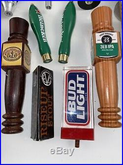 Lot Of 32 Beer Tap Handles, Shock Top, Bud Light, Microbrew, Domestic