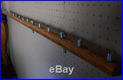 Lot Of 3ea 17 Beer Tap Handle Displays (hold 51 Taps) Wall Mounted Oak 58