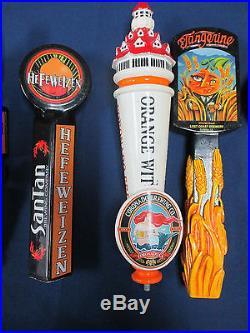 Lot of 6 Beer Tap Handles Traveler, Lost Coast, San Tan Etc. (Inv#2)