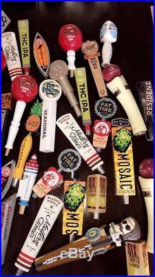 Lot of Used beer tap handles (50 Total)