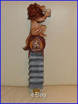 Lowenbrau Figural Beer Tap Handle Depicting A Lion On Barrel