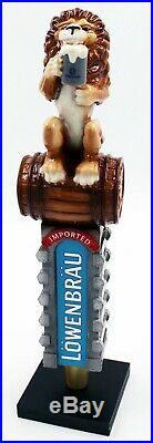 Lowenbrau Lion Large 3D Figural Beer Tap Handle NOS