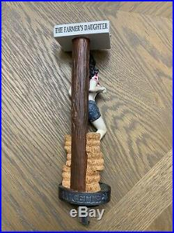 Lucette brewery Farmers Daughter Beer Tap Handle Figural Brew Rare