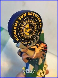 MIDNIGHT SUN BREWING PANTY PEELER beer tap handle. Anchorage, Alaska