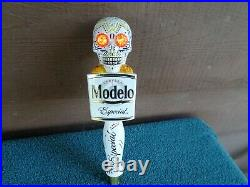 MODELO DAY OF THE DEAD SET of (2)MOTIONNEGRA & ESPECIAL beer tap handles, NEW