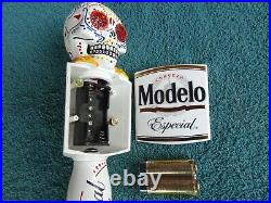 MODELO DAY OF THE DEAD TAP HANDLE MOTION FLASHING EYES, new in the box