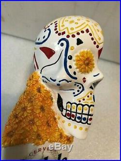 MODELO ESPECIAL AND NEGRA SUGAR SKULL TWINS beer tap handles. MEXICO