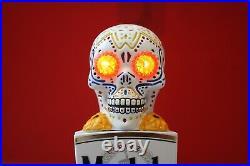 MODELO Light Up Eyes Skull BEER TAP HANDLE, Day of the Dead, Rare