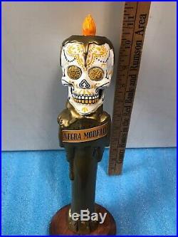 MODELO NEGRA CERVEZA DIA DE LOS MUERTOS SUGAR SKULL beer tap handle. MEXICO