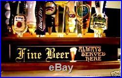 MULTI-COLOR LED REMOTE CRTL FINE BEER ALWAYS SERVED 18 beer Tap handle display