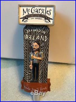 McGARGLES UNCLE JIM'S STOUT beer tap handle. Kildare, Ireland