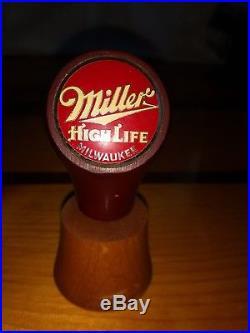 Miller High Life beer ball knob tap handle rare