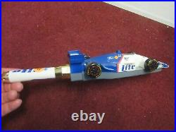 Miller Lite Beer Formula One Racing Indy Figural Race Car Beer Tap Handle Pub