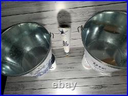 Miller Lite/Dallas Cowboys Bundle. Tap Handle, 2 Buckets, 2 Cups, 2 Tumblers NEW
