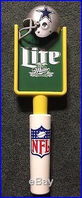 Miller Lite Dallas Cowboys Helmet Goal Post Beer Tap Handle NFL