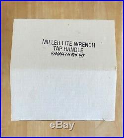 Miller Lite Wrench Beer Tap Handle Figural Miller Racing New Old Stock NIB