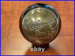 Miller Milwaukee Wisconsin beer ball knob tap handle vintage brewery