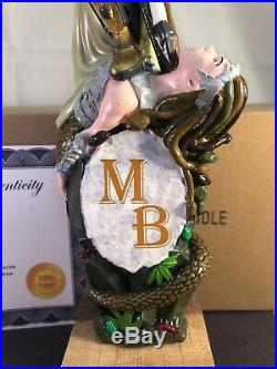 Moddy Brew Gorgon Conquest Red Ale Beer Tap Handle Rare Figural Girl Tap Handle