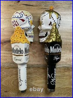 Modelo Draft Tap Handle Set Day Of The Dead Skulls (Especial & Negra Cerveza)