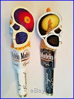 Modelo Dual Especial Negra Dia De Los Muertos Sugar Skull NIB Beer Tap Handle