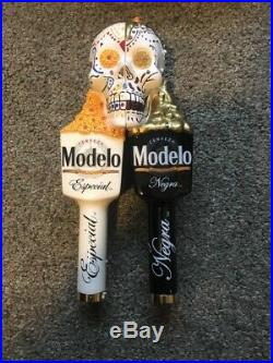 Modelo Especial Day Of The Dead Sugar Skull Set Beer Tap Handles-NEW IN BOX