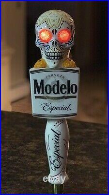 Modelo Especial Dia De Los Muertos Sugar Skull Mexico LIGHT UP EYES Tap Handle