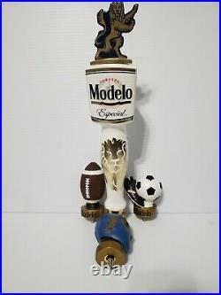 Modelo Especial Full Single Gold Lion 14 Draft Beer Bar Tap Handle