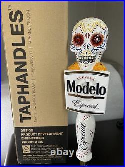Modelo Especial Sugar Skull 10 BEER Tap Handle LED EYES NEW in BOX RARE
