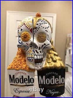 Modelo Negra modelo dual sugar skull beer tap handle