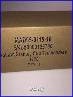Molson Canadian Beer NHL Stanley Cup Tap Handle BRAND NEW IN BOX EXC Cond Pub