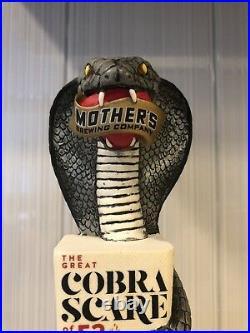 Mother's Brewery Cobra Scare Ozark Pale Ale Snake Animal Rare Beer Tap Handle