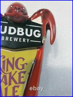 Mudbug Brewery King Lake Ale Crab Claw Scarce Draft Beer Tap Handle Mancave Bar