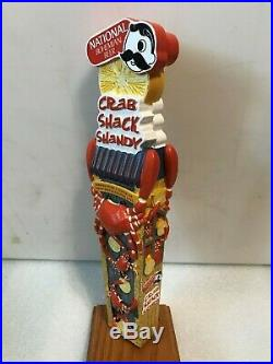 NATIONAL BOHEMIAN CRAB SHACK SHANDY beer tap handle. Baltimore, MD
