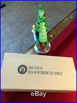NEW & EXTREMELY RARE NIB BOGART MELLOW MUSHROOM BEER TAP HANDLE WithSTAND
