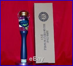NEW IN THE BOX VERY RARE DOGFISH HEAD FIREFLY TAP HANDLE withSTAND & 100 COASTERS