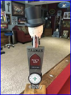 NEW Taxman Brewery Skull and Tophat Beer Tap Handle