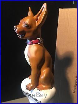 NEW rare Chihuahua Rosado Dog beer tap handle Bar Kegerator pull Craft Lot MINT