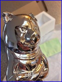 NIB Chrome Silver Sterling Pig Hog Boar Tap Handle