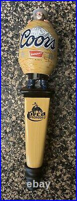 NIB Coors PRCA Rodeo Bobblehead Clown in Barrel Tap Handle 10.75 Inches