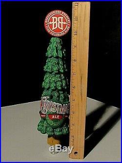 NIB RARE Light Up Breckenridge Brewery Christmas Tree Ale Beer Tap Handle lot