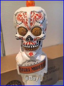 Negra Modelo Dia de Los Muertos (Day of the Dead) Skull Tap Handle