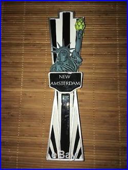 New Amsterdam STATUE OF LIBERTY New York Beer Tap Handle keg draft bar VERY RARE