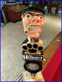 New And Rare The Hideout Brewing Gangster Beer Tap Handle