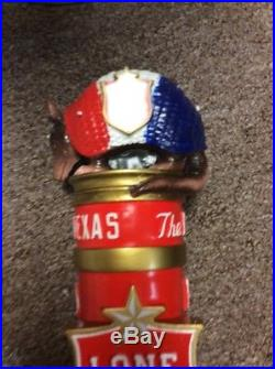 New Lone Star Beer Tap Handle With Armadilla