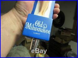 New Old Milwaukee Light Beer Tap Handle Knob Pin Up Girl Keg Pull Bar Man Cave
