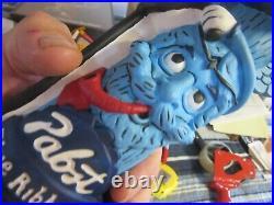 New Pabst Blue Ribbon Beer Tap Handle Tiki Totem Pole Keg Pull Pbr Art Bar Pub