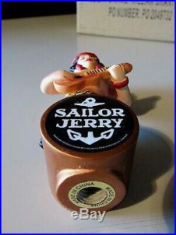 New Rare Sailor Jerry Hawaii Hula Girl Short Beer Bar Tap Handle lot